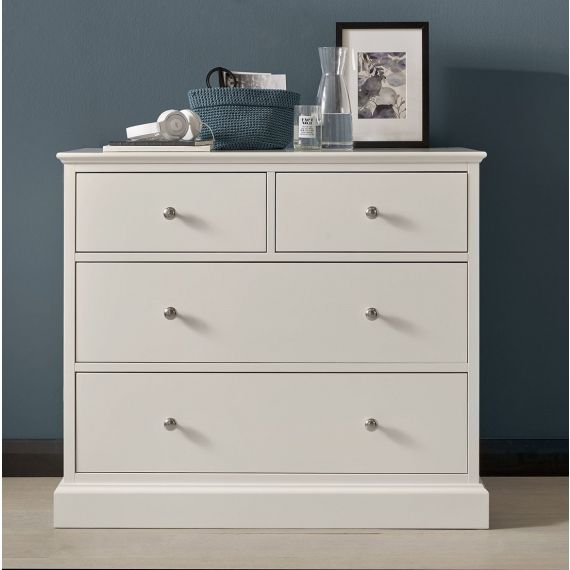 Ashby White Painted 4 Drawer Chest - Ashby Bedroom Furniture