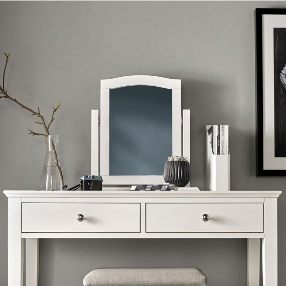 Ashby White Painted Dressing Table Mirror - Ashby Bedroom Furniture