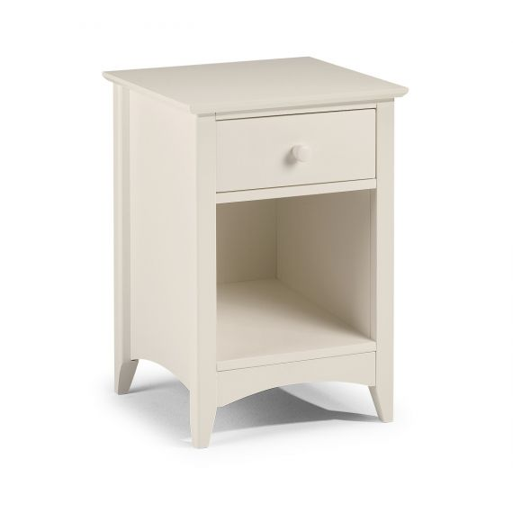 Aspen White 1 Drawer Bedside Table
