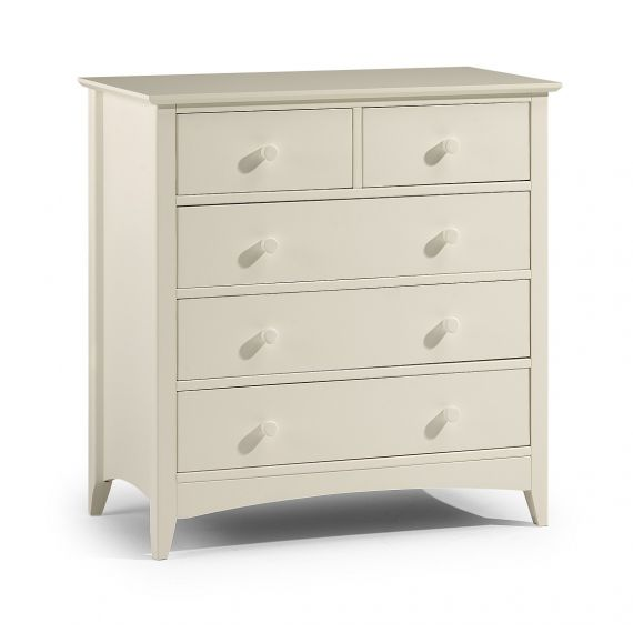 Aspen White 5 Drawer Chest