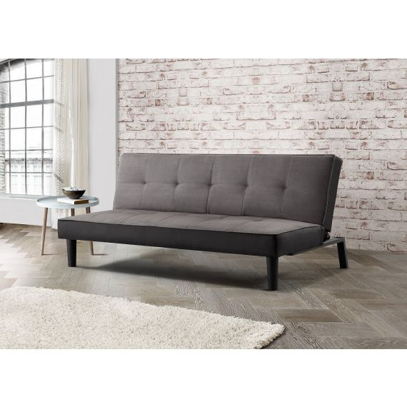 Aurora Grey Velvet 3 Seater Sofa Bed