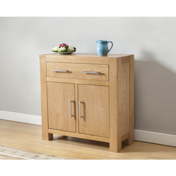 Aylesbury Contemporary Light Oak Compact Sideboard