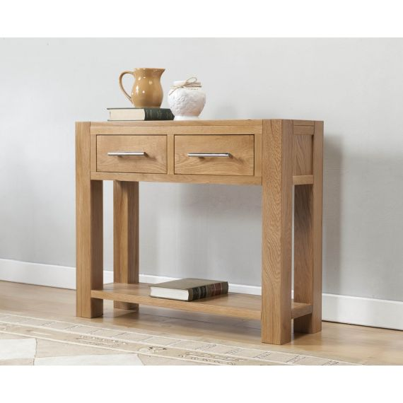 Aylesbury Contemporary Light Oak Large Hall Console Table
