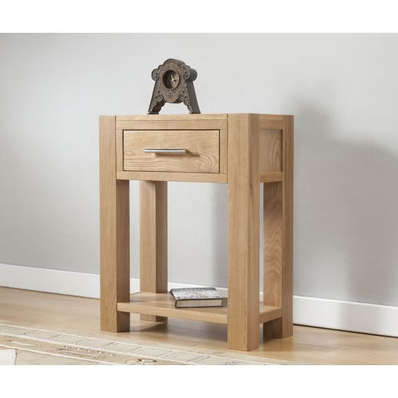 Aylesbury Contemporary Light Oak Small Hall Console Table