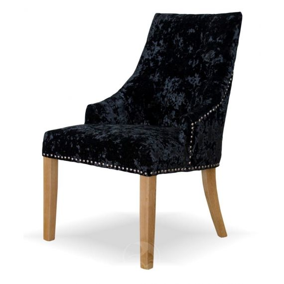 Bergen Black Deep Crushed Velvet Chair