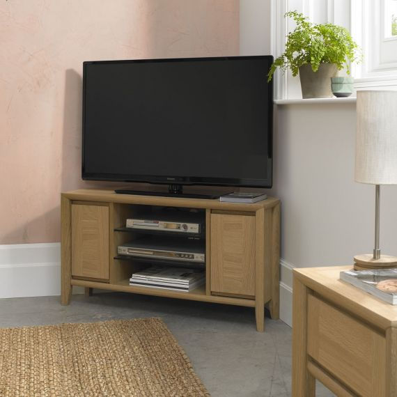 Bergen Oak Corner TV Unit