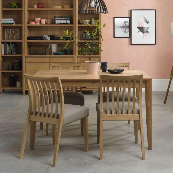 Bergen Oak Extending Dining Table