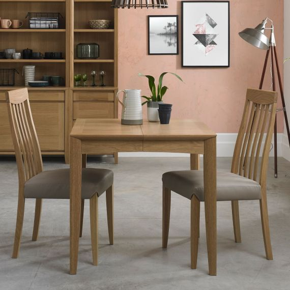 Bergen Oak Small Extending Dining Table