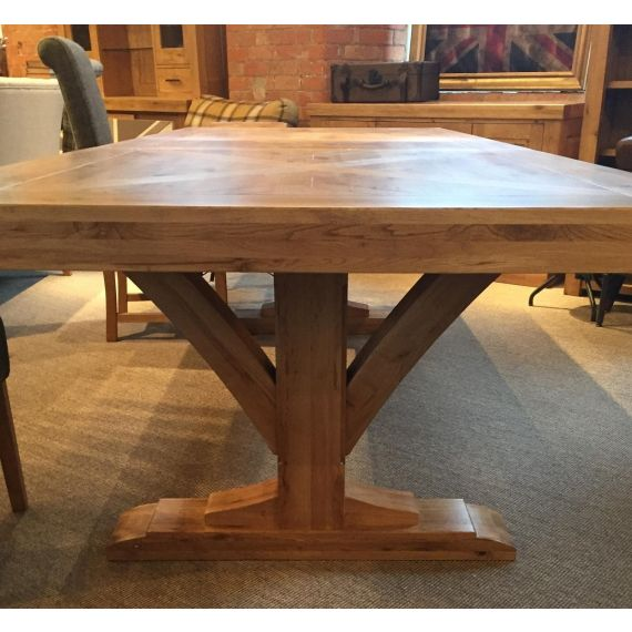 Bloomsbury Oak Large Extending Dining Table with Trestle Base