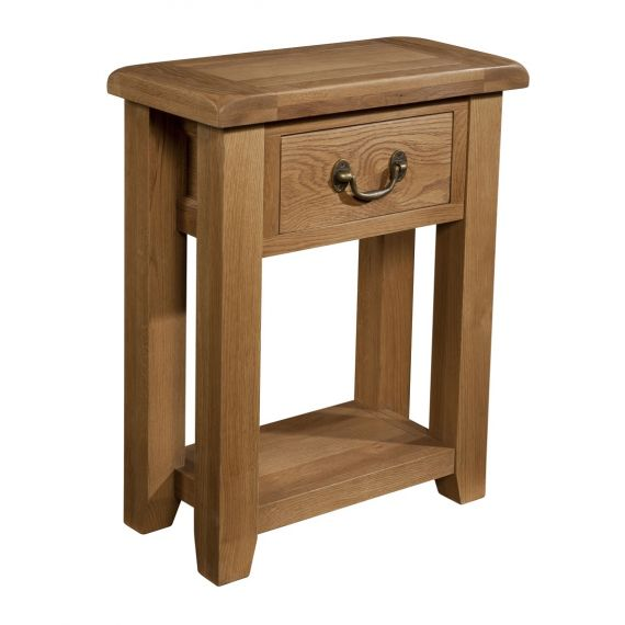 Buttermere Light Oak 1 Drawer Console Table