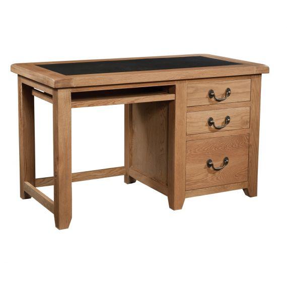 Buttermere Light Oak Single Pedestal Office Desk