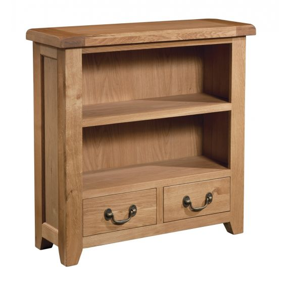 Buttermere Light Oak Small Bookcase with Drawers