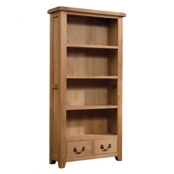 Buttermere Light Oak Tall Bookcase with Drawers
