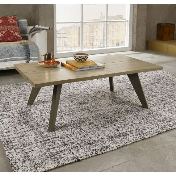 Cadell Aged & Weathered Oak Coffee Table - Cadell Furniture