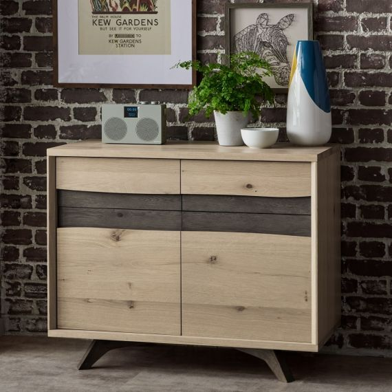 Cadell Aged & Weathered Oak Small Sideboard - Cadell Furniture