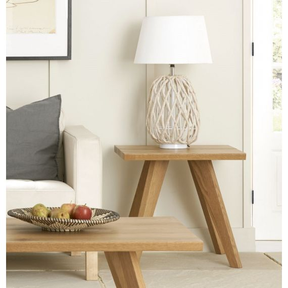 Cadell Rustic Oak Lamp Table - Cadell Furniture