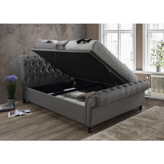 Castello Fabric Side Ottoman Bed