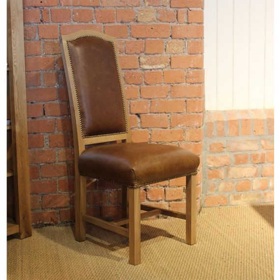 Chancellor Brown Leather Dining Chair