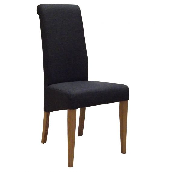 Charcoal Fabric Dining Chair