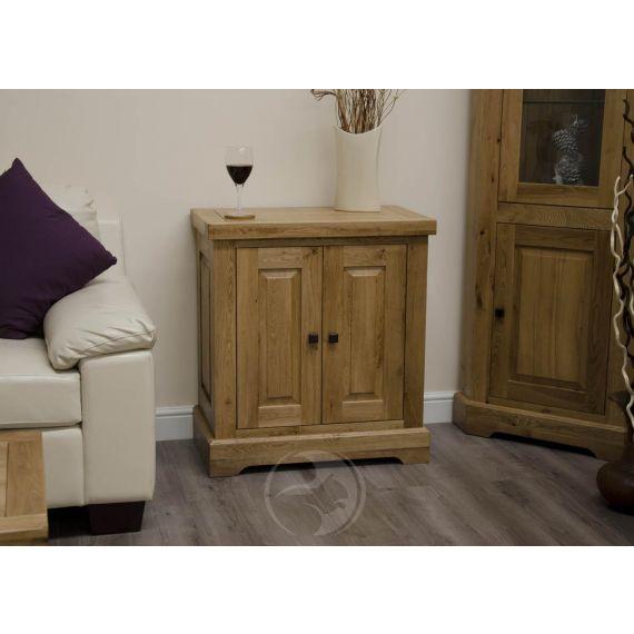 Coniston Rustic Solid Oak Printer / Occasional Cabinet