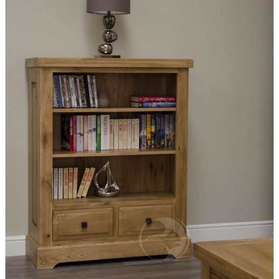 Coniston Rustic Solid Oak Small Bookcase