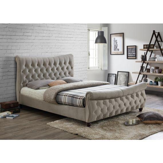 Copenhagen Warm Stone Fabric Bed