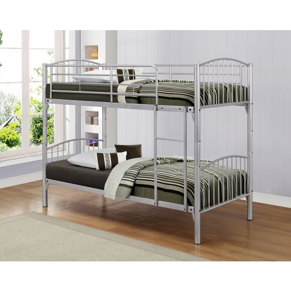 Corfu Silver Metal Bunk Bed
