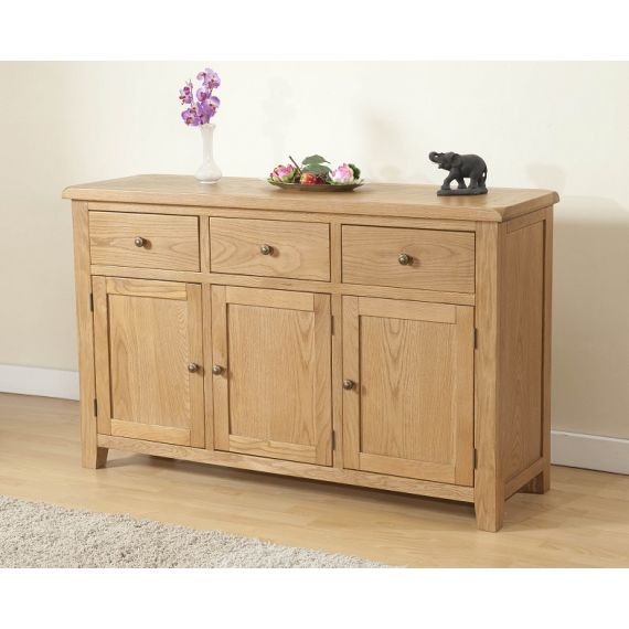 Cotswold Rustic Light Oak Large Sideboard
