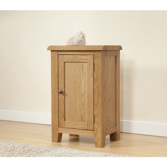 Cotswold Rustic Light Oak Small Cabinet with 1 Door
