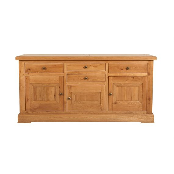 Country Solid Oak Large 3 Door Sideboard