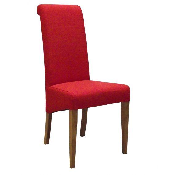 Dark Orange Fabric Dining Chair