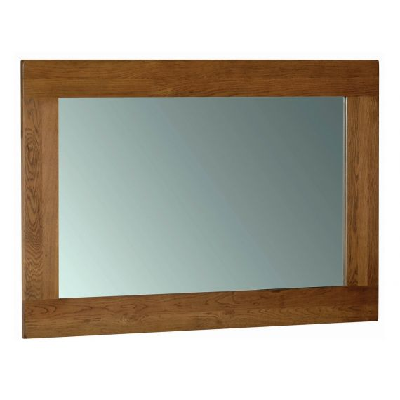 Edinburgh Rustic Oak 130 x 90cm Wall Mirror