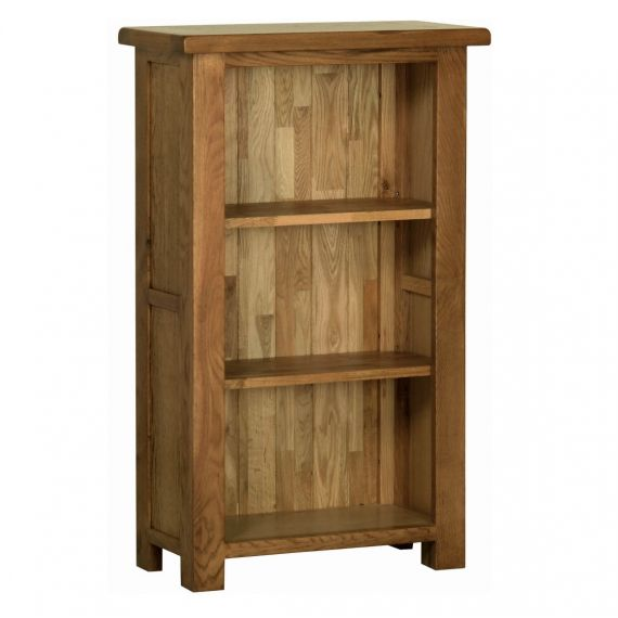 Edinburgh Rustic Oak 3ft Narrow Bookcase