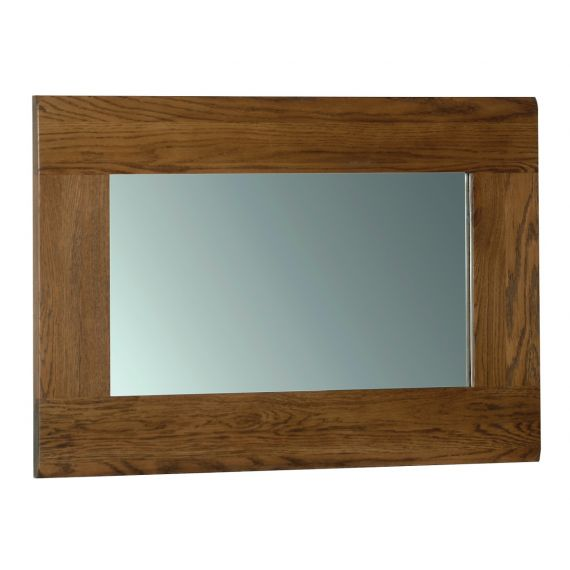 Edinburgh Rustic Oak 90 x 60cm Wall Mirror