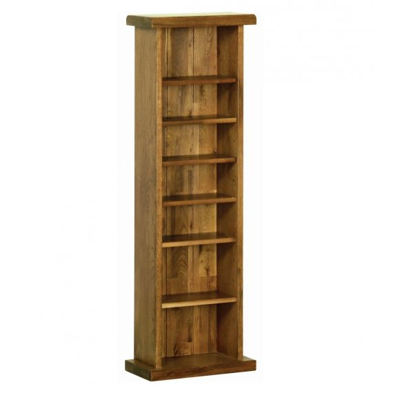 Edinburgh Rustic Oak CD/DVD Rack
