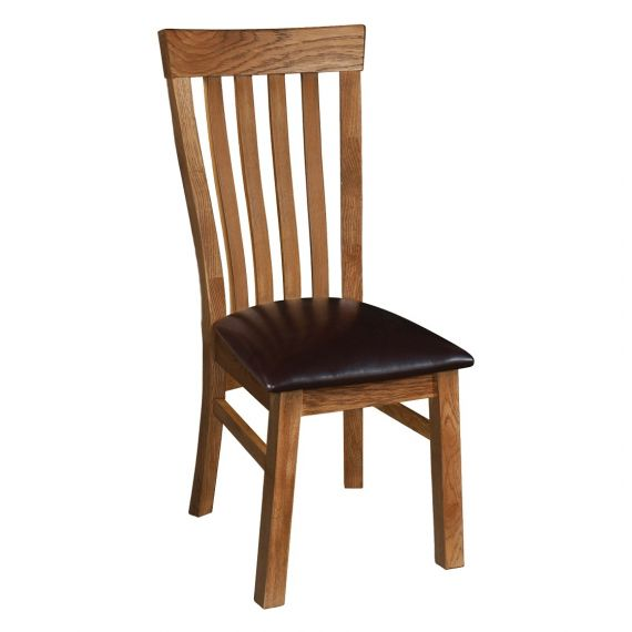 Edinburgh Rustic Oak Curved Back Dining Chair