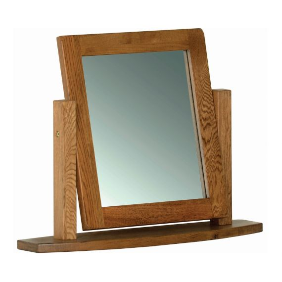 Edinburgh Rustic Oak Dressing Table Mirror