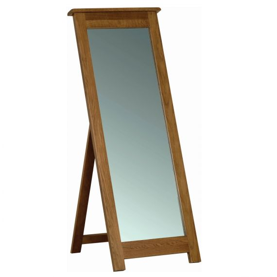Edinburgh Rustic Oak Cheval Mirror