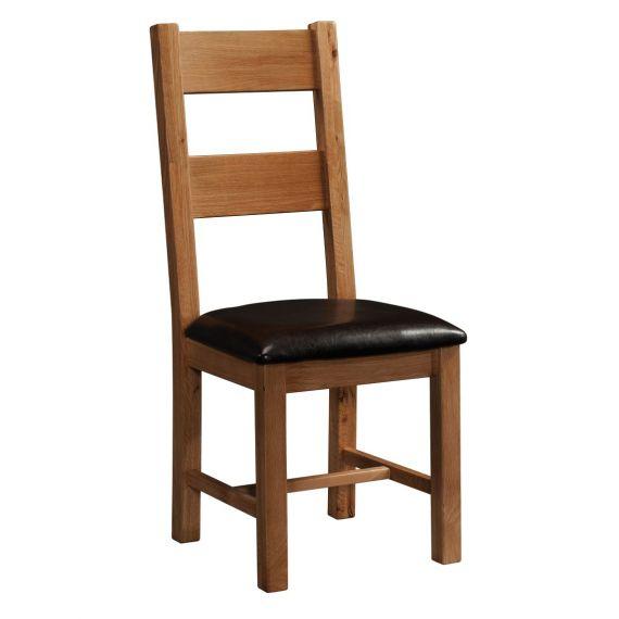 Edinburgh Rustic Oak Ladder Back Dining Chair