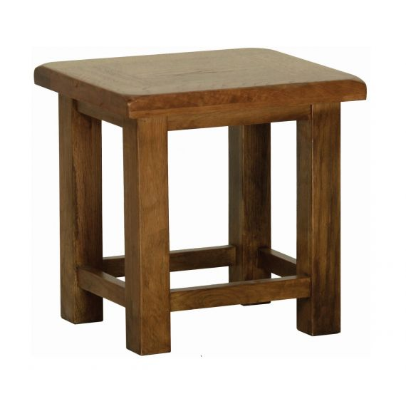 Edinburgh Rustic Oak Lamp Table
