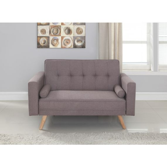 Ethan Grey Fabric 2 Seater Sofa Bed
