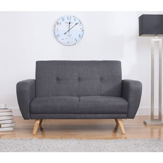 Farrow Grey Fabric 2 Seater Sofa Bed