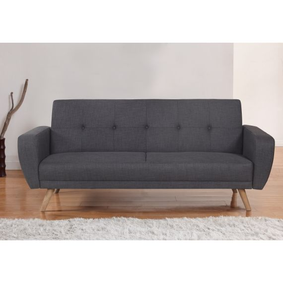 Farrow Grey Fabric 3 Seater Sofa Bed