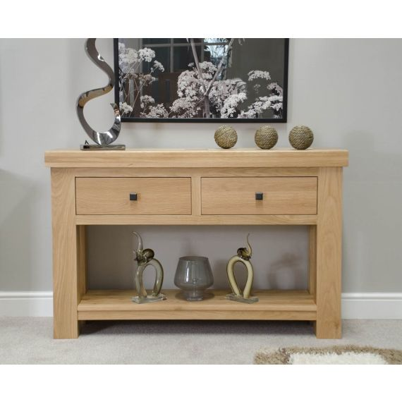 French Bordeaux Oak Hall Console Table