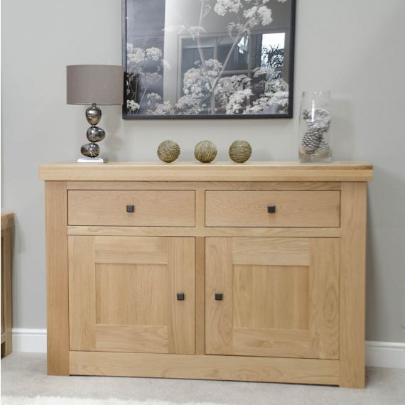 French Bordeaux Oak Small 2 Door Sideboard