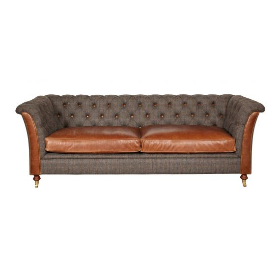 Granby 3 Seater Vintage Sofa Harris Tweed FT