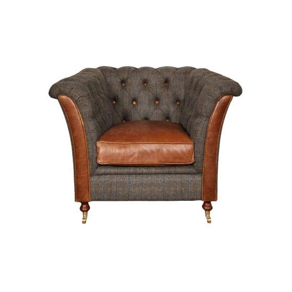 Granby Vintage Chair Harris Tweed FT
