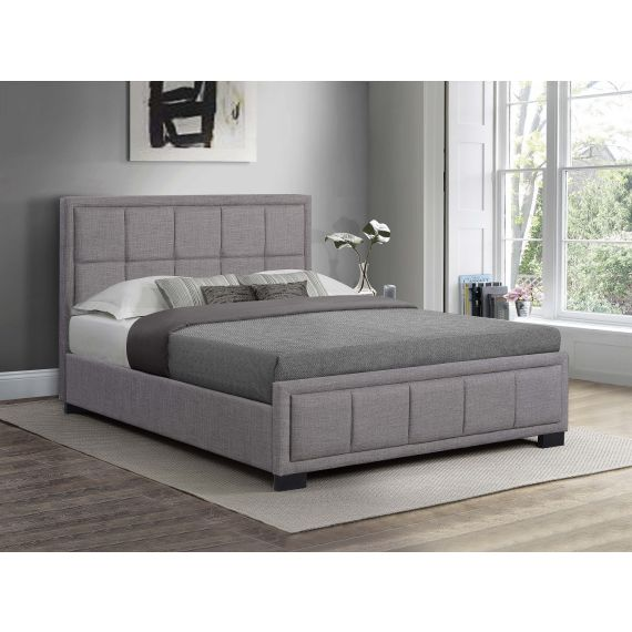 Hannover Grey Fabric Bed