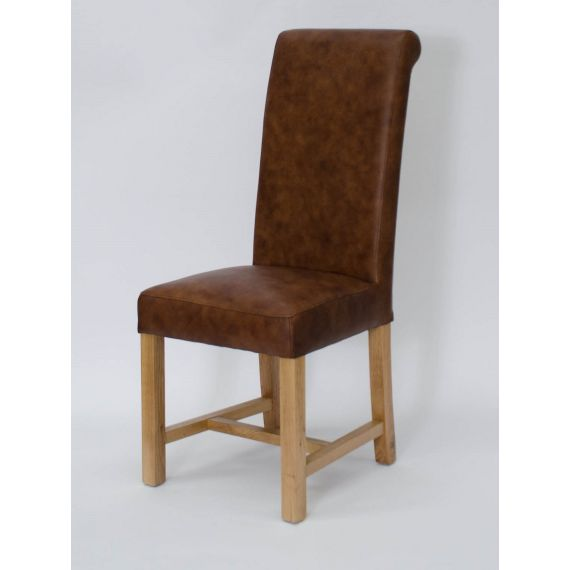 Henley Mocha Leather Dining Chair