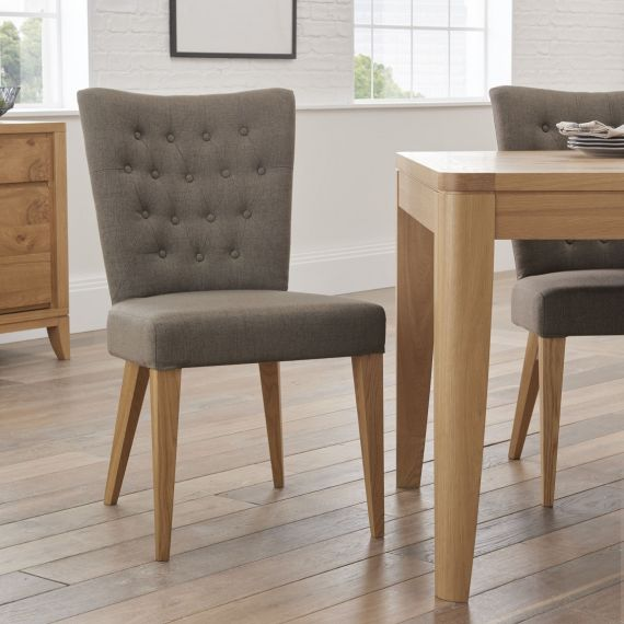 High Park Black Gold Fabric Dining Chair - High Park Furniture
